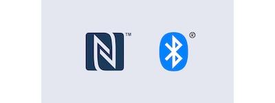 "NFC ir ""Bluetooth"" logotipai"