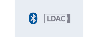 """Bluetooth"" su LDAC logotipas"