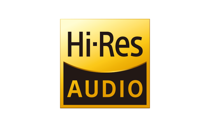 """Hi-Res Audio"" logotipas"