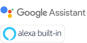 """Google Assistant"" ir ""Amazon Alexa"" logotipai"