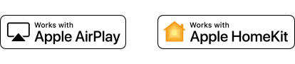 """Apple AirPlay"" ir ""Apple HomeKit"" logotipai"