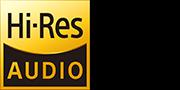 Didelės raiškos garso logotipas